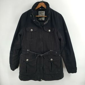Craghoppers Black Travel Coat Belted Insulated 6